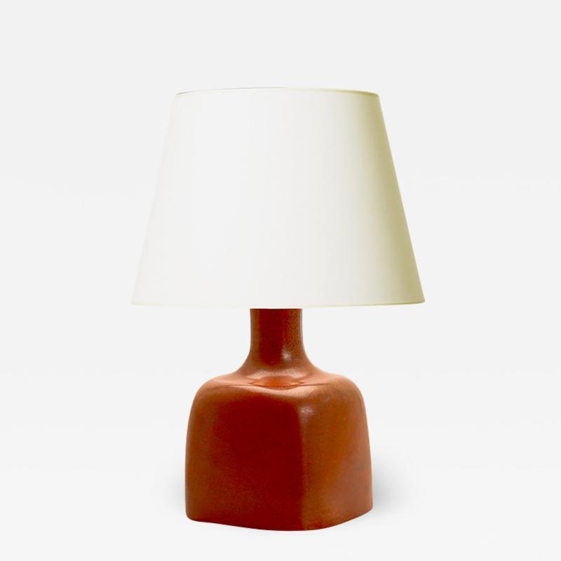 Stig Lindberg Table Lamp with Squared Base by Stig Lindberg
