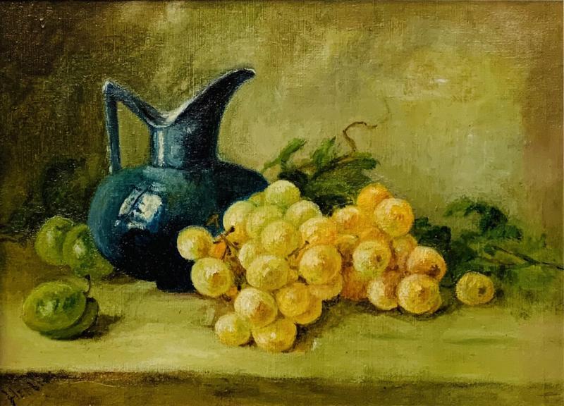 Still Life Oil on Canvas Painting Framed