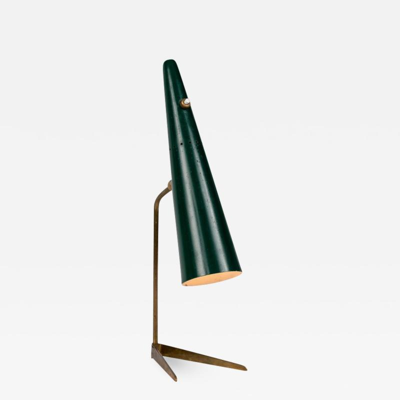 Stilux Milano 1950s Stilux Milano Green Conical Table Lamp
