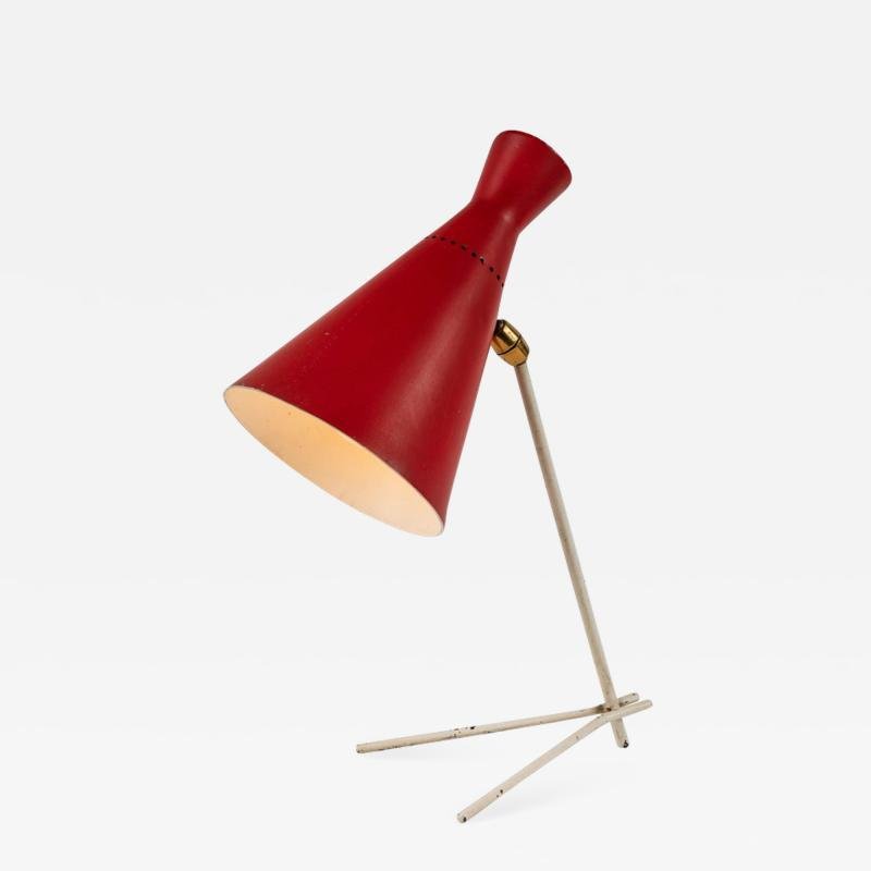 Stilux Milano 1950s Stilux Milano Red and White Table Lamp