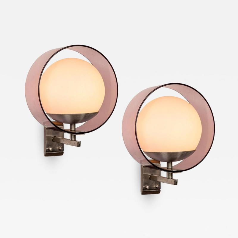 Stilux Milano Pair of 1960s Stilux Milano Saturno Wall Lamps