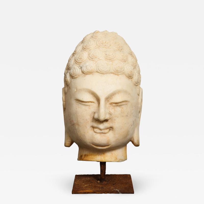 Stone Sculpture of Buddha Head