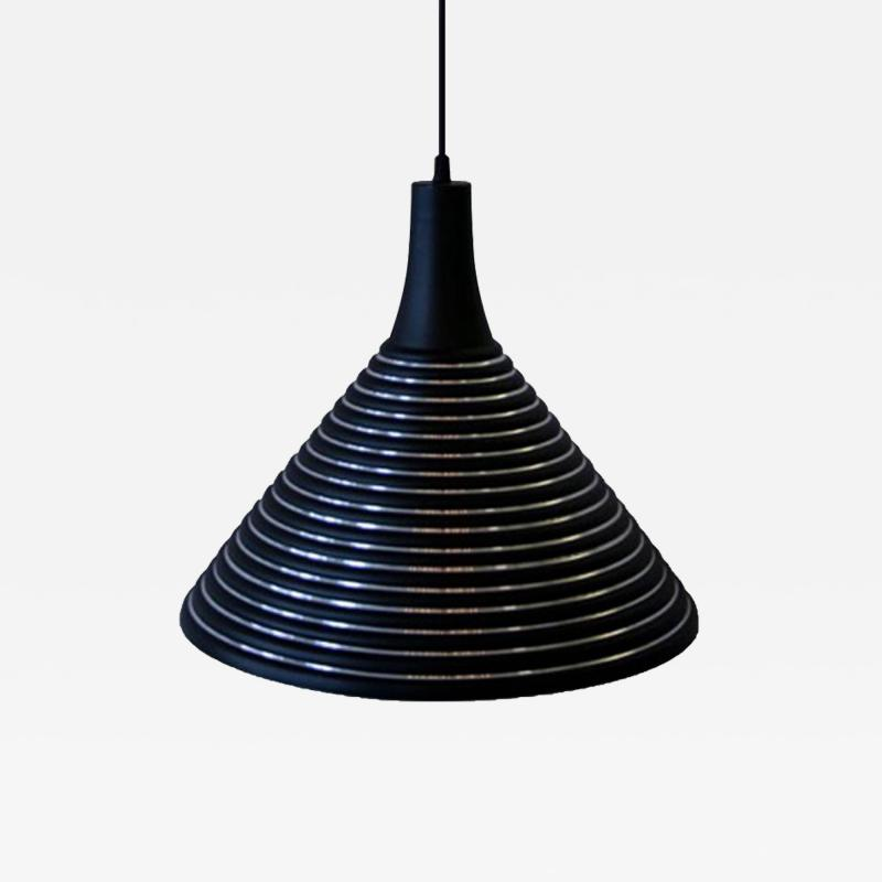 Striped Pendant with Conical Flare