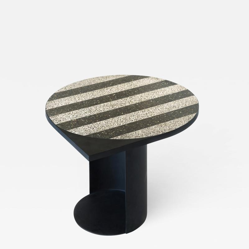 Stripy Mosaic Brass Table Rooms