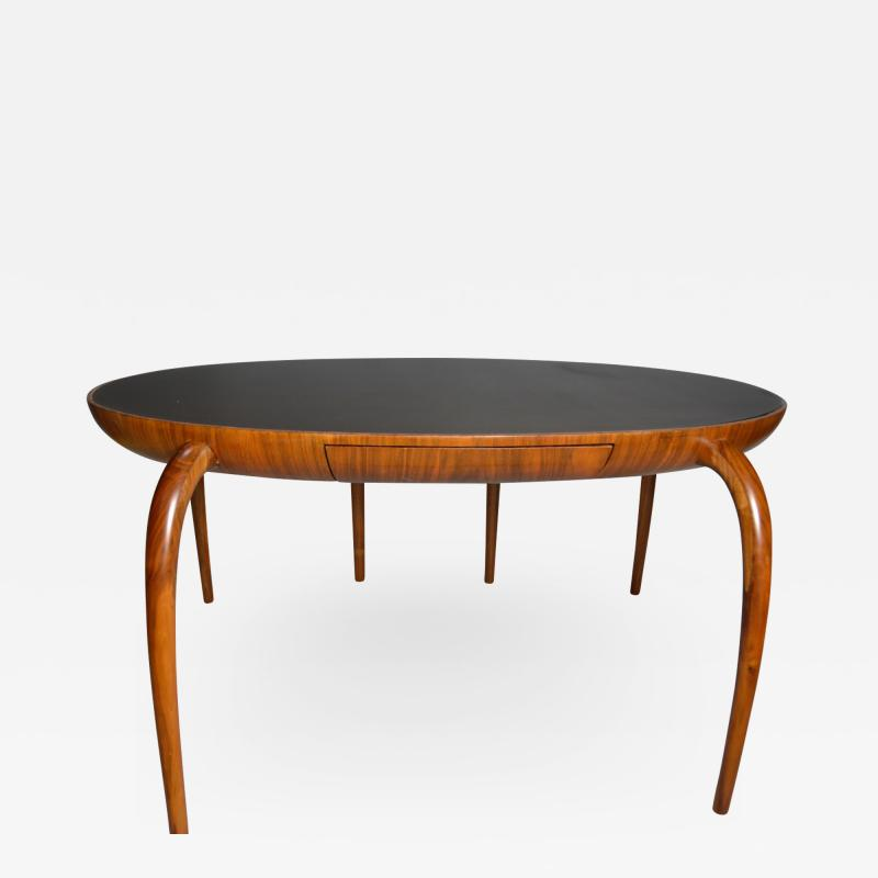 Studio Crafted Spider Leg Oval Writing Desk 1970s
