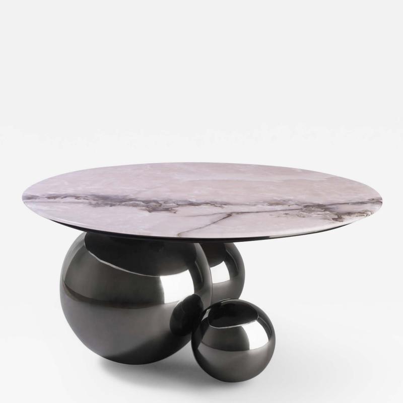 Studio MVW JinShi Pink Jade Coffee Table Gunmetal Grey version