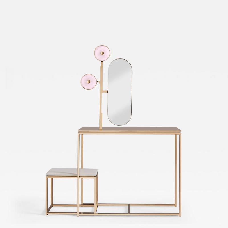 Studio MVW JinShi Pink Jade Luminous Console With Bench