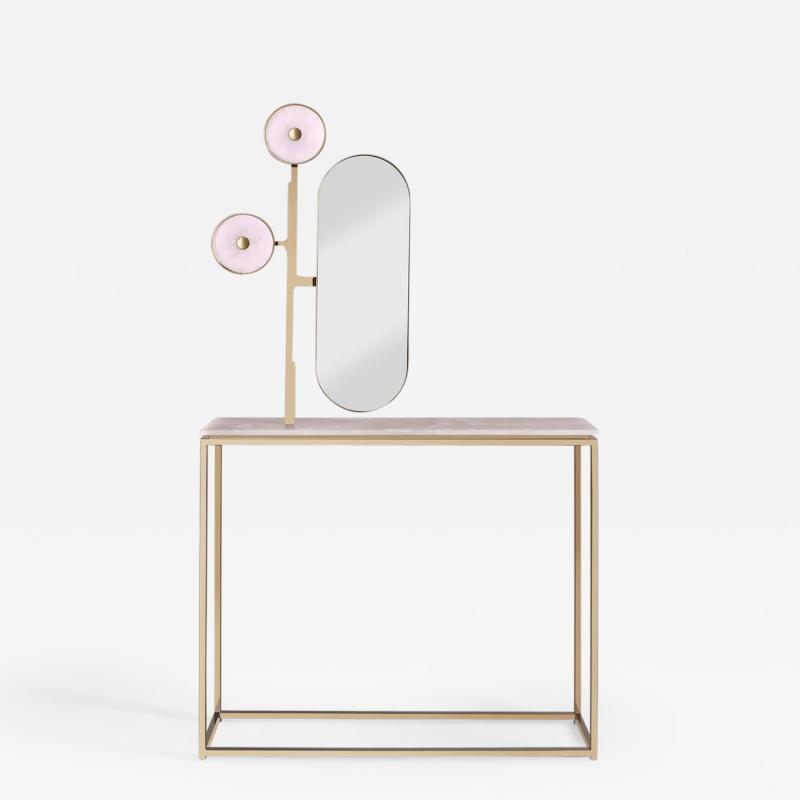 Studio MVW JinShi Pink Jade Luminous Console with Pink Jade Top