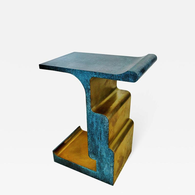 Studio MVW Rare Bronze and Patinated Bronze XiangSheng Table 1 Studio MVW