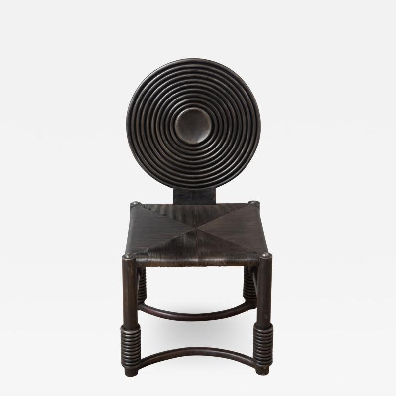 Studio Metal Bronze Patina Accent Chair