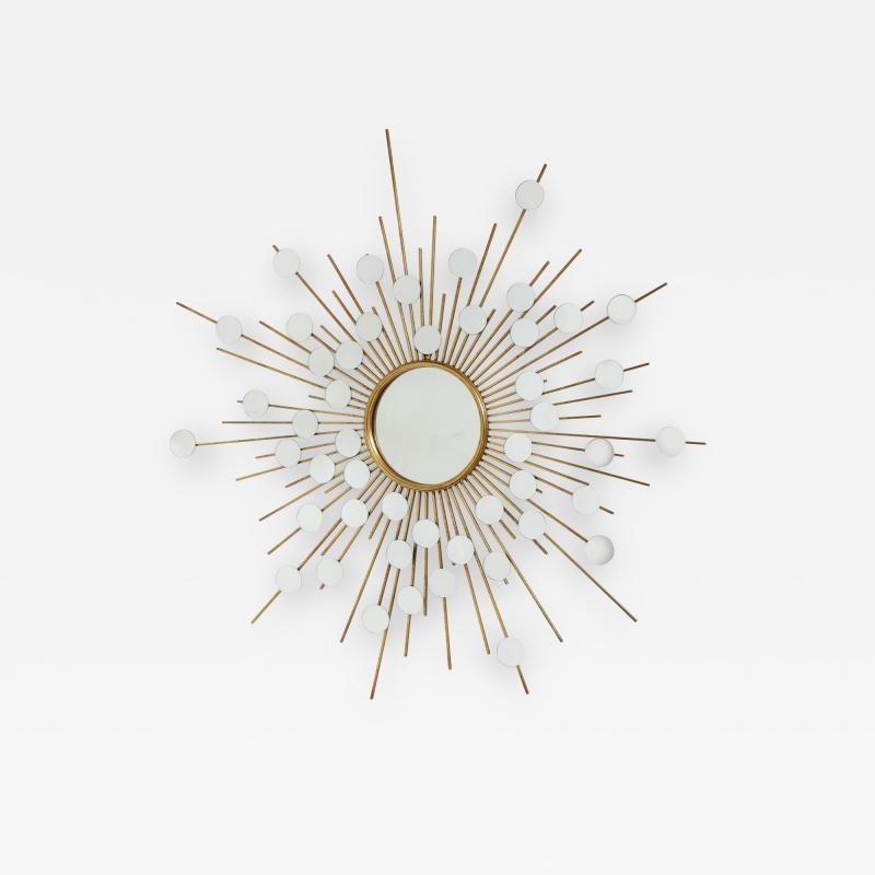 Sunburst Mirror with Spokes of Smaller Mirrors