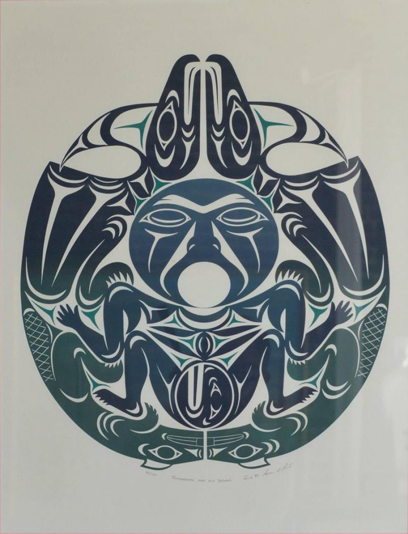Susan A Point Large Framed First Nations Print by Susan A Point