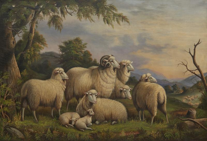 Susan Catherine Moore Mrs WIlliam Waters Sheep in a Landscape