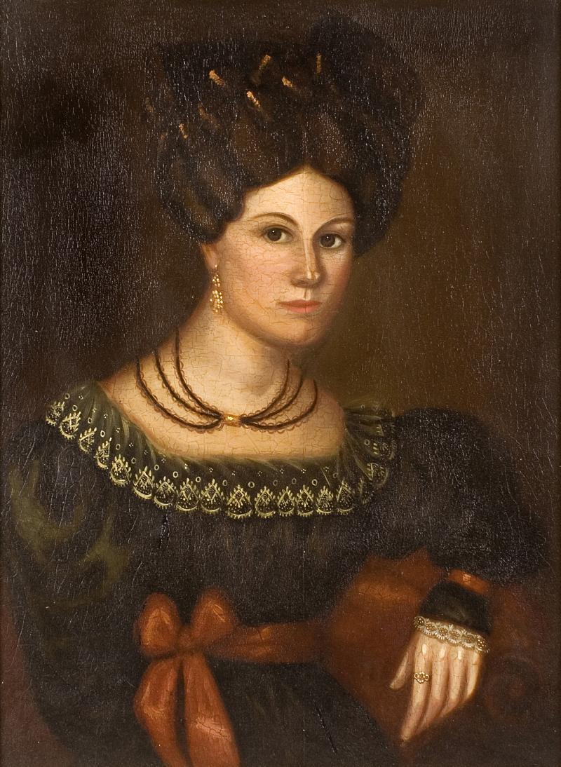 Susannah Paine American Folk Portrait by Susannah Paine
