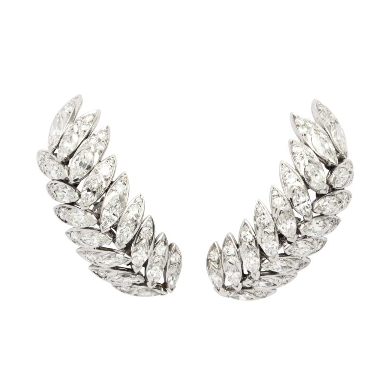 Suzanne Belperron Diamond Earrings by Suzanne Belperron