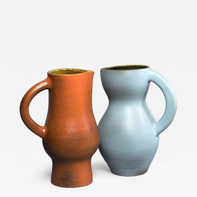 Suzanne Rami Two Ceramic Jug Vases
