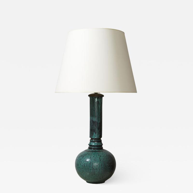 Svend Hammersh i Hammershoj Table lamp with long neck in teal black by Svend Hammersh i