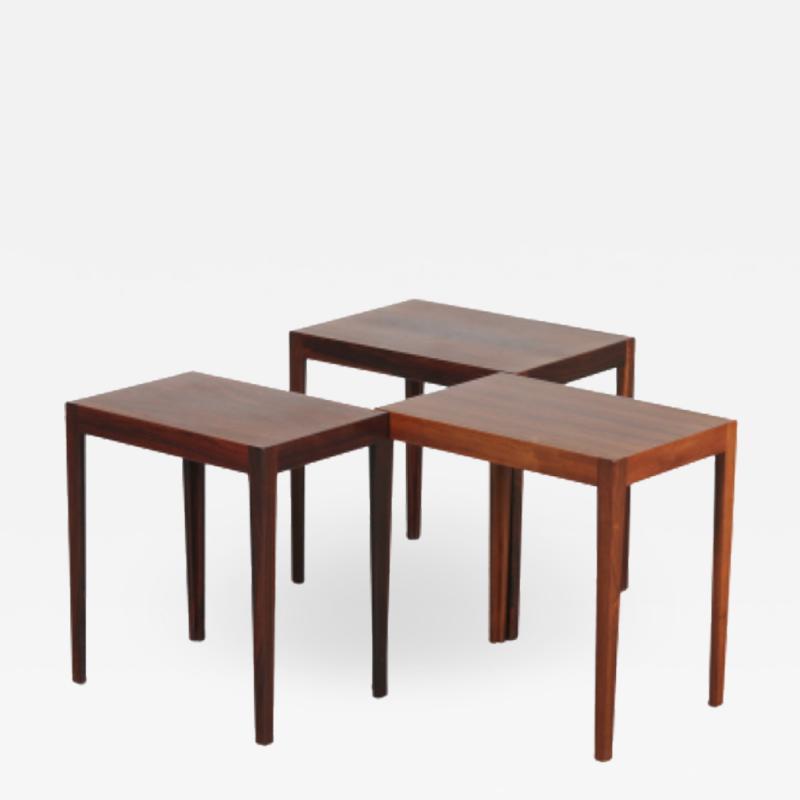 Svenn Eske Kristensen Nesting Tables for Pontoppidan Denmark 1960