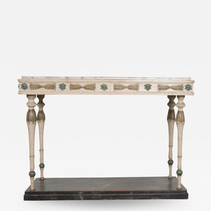 Swedish 19th Century Carved and Painted Console