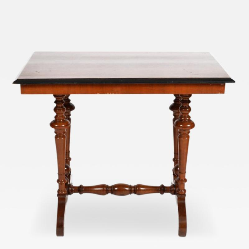 Swedish Rectangular Occasional Walnut Table Circa 1880