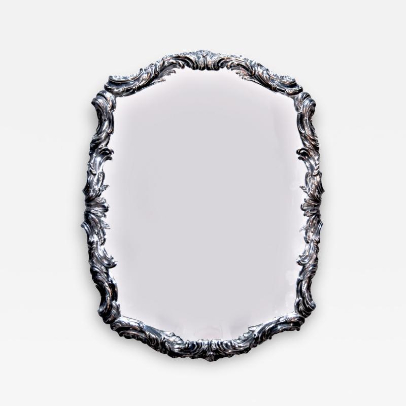 Swedish Silvered Neo Rococo Mirror