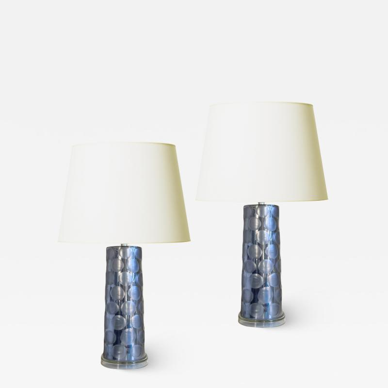Swedish Tall Mod Pair of Table Lamps