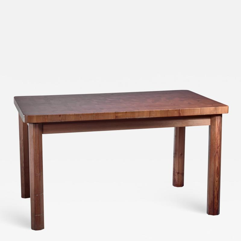 Swedish pine dining table and bench 1960s