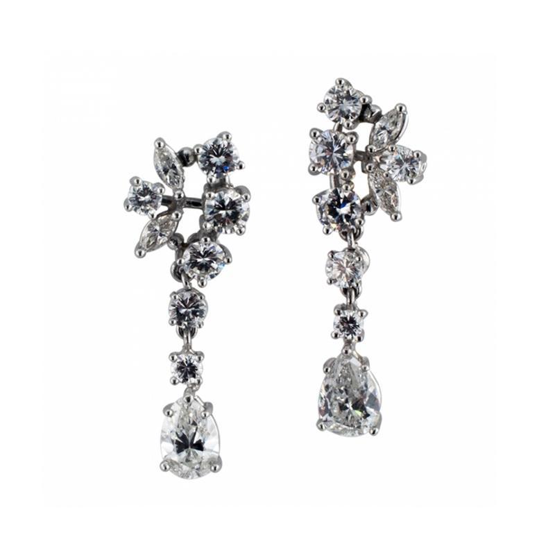 Swinging Diamond Drop Earrings