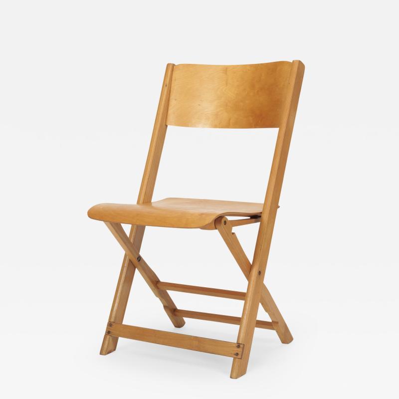 Swiss Birchwood Folding Chair 40 s