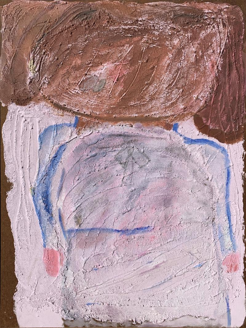 Sylvia Rutkoff 1950s The School Girl Oil and Sand Painting Nyc Female Artist Brooklyn Museum