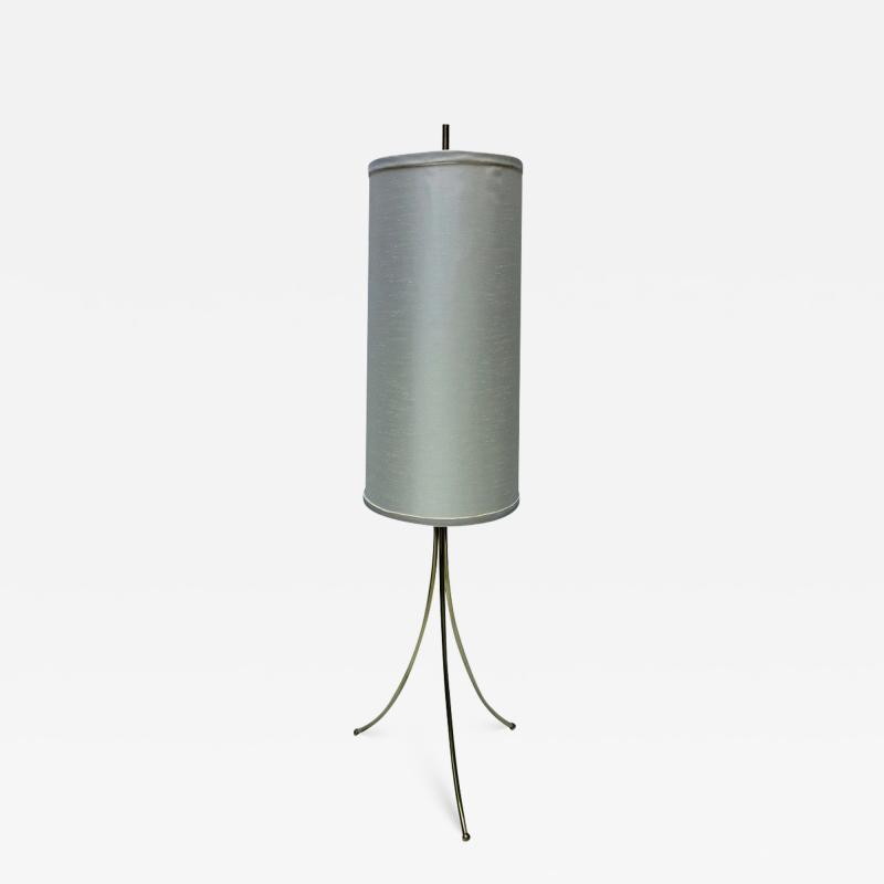 T H Robsjohn Gibbings Brass Tripod Floor Lamp in the Style of Robsjohn Gibbings 1950