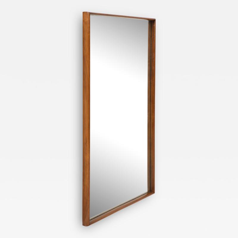 T H Robsjohn Gibbings Large Walnut Framed Robsjohn Gibbings for Widdicomb Mirror