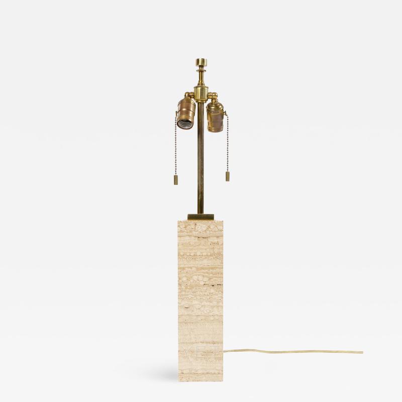 T H Robsjohn Gibbings MARBLE TABLE LAMP