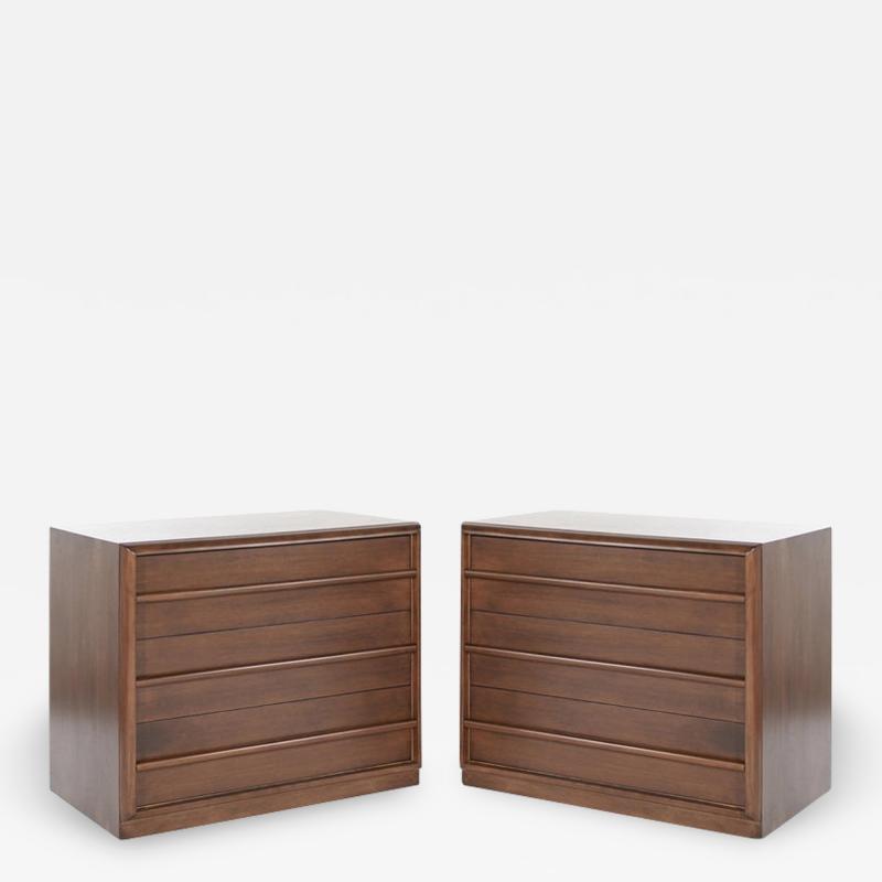 T H Robsjohn Gibbings Pair of Bedside Tables by T H Robsjohn Gibbings 1950s