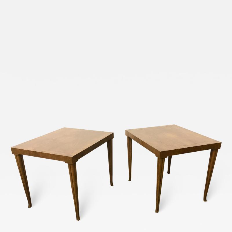 T H Robsjohn Gibbings Rare Pair Robsjohn Gibbings Side Tables