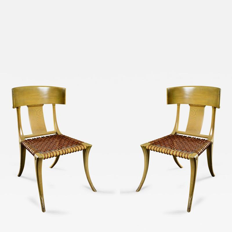 T H Robsjohn Gibbings Robsjohn Gibbings Pair of Klismos Chairs