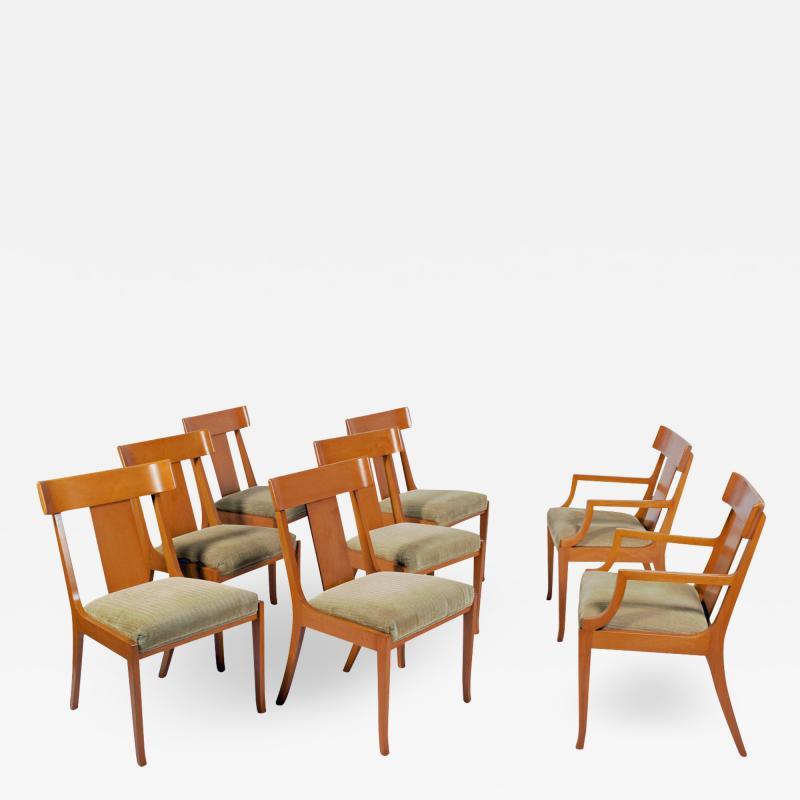 T H Robsjohn Gibbings Set of Eight T H Robsjohn Gibbings dining chairs for Widdicomb