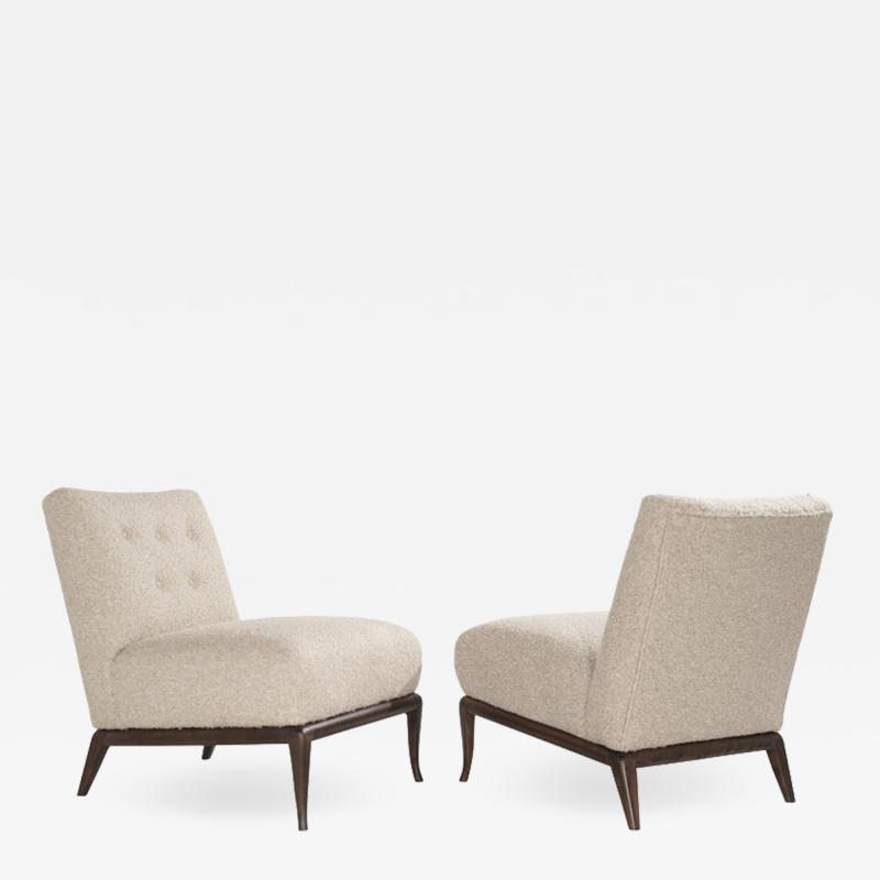 T H Robsjohn Gibbings Slipper Chairs in Boucl by T H Robsjohn Gibbings circa 1950s