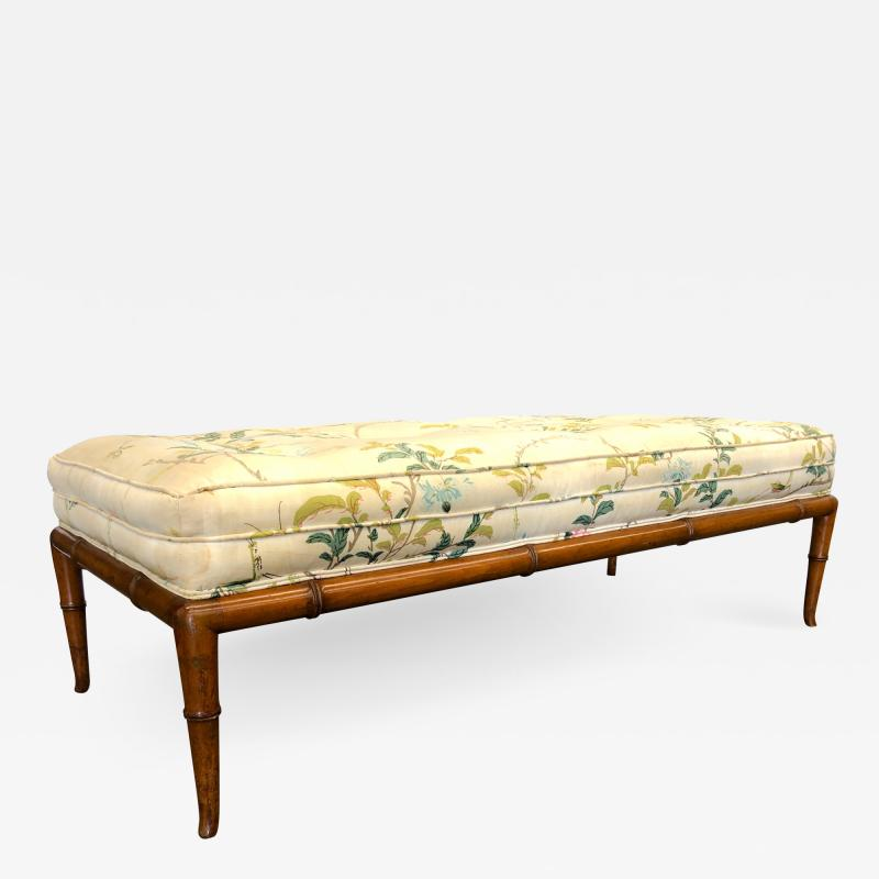 T H Robsjohn Gibbings T H Robsjohn Gibbings Custom Walnut Bench for the Kandell Residence