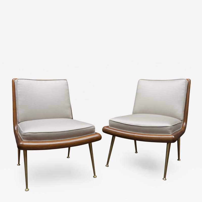 T H Robsjohn Gibbings T H Robsjohn Gibbings Lounge Chairs