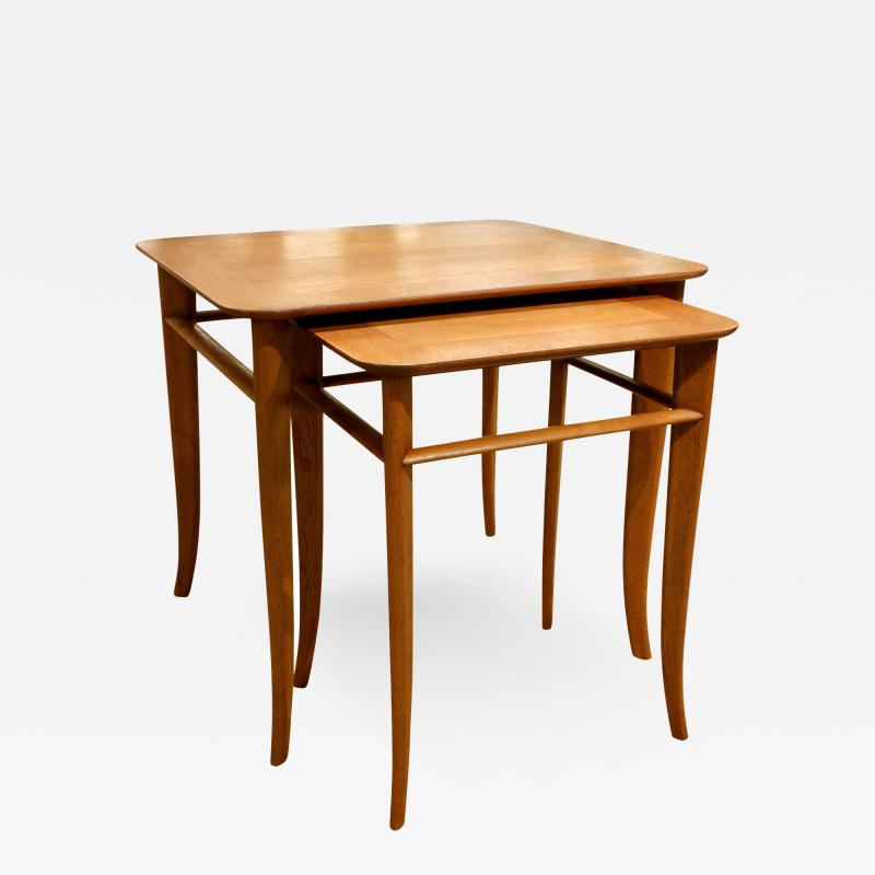 T H Robsjohn Gibbings T H Robsjohn Gibbings Pair of Nesting Tables 1950s