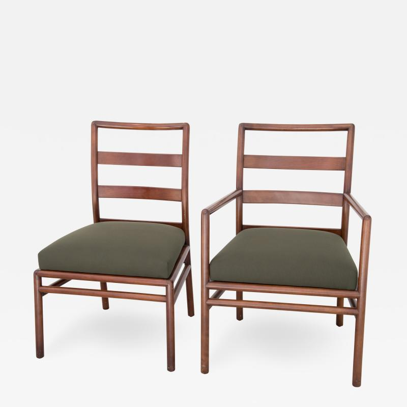 T H Robsjohn Gibbings T H Robsjohn Gibbings Set of 6 Mid Century Modern Dining Chairs Model 1685