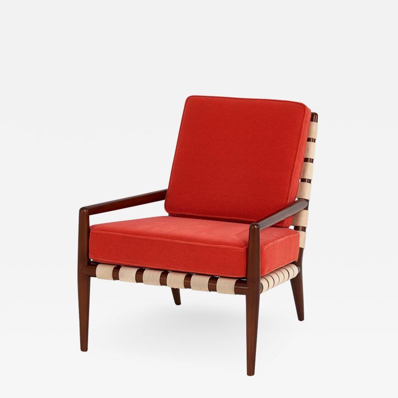 T H Robsjohn Gibbings T H Robsjohn Gibbings Widdicomb Strap Lounge Chair