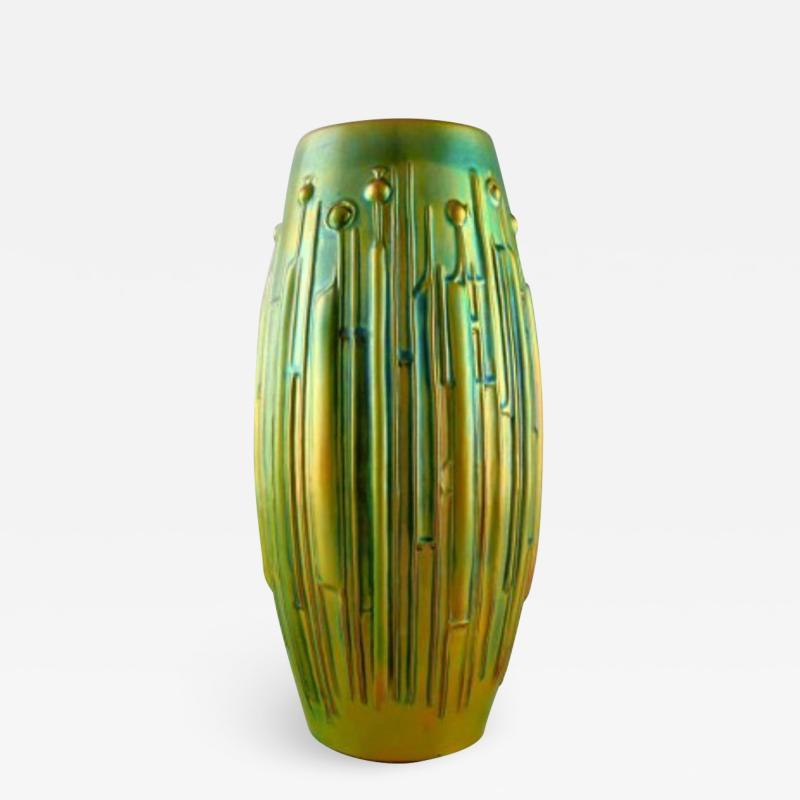 T r k J nos Large modernist vase in glazed ceramics