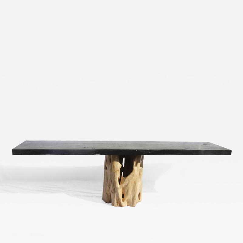 TABLE RACINE BLANCHE BLACK TOP