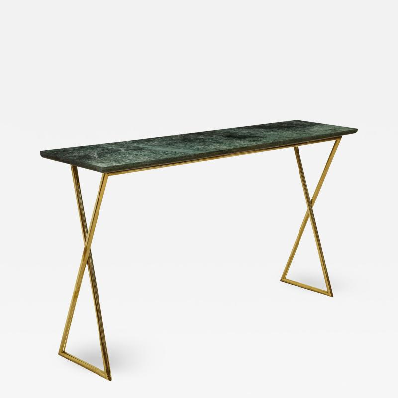 TALL CONSOLE TABLE WITH MARBLE TOP