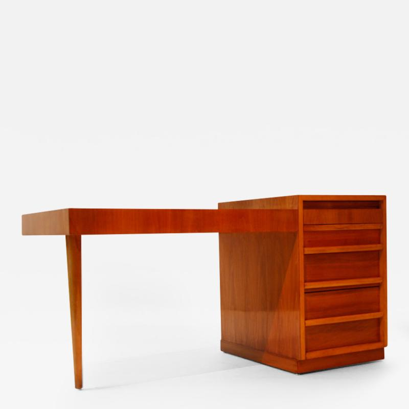 TH Robsjohn Gibbings Cherry Wood Desk with Drawers