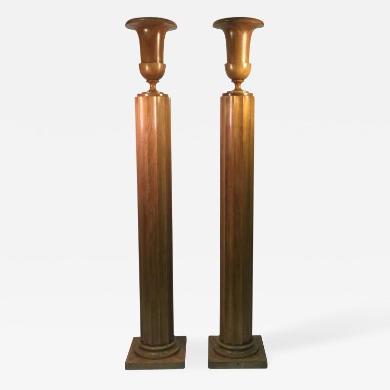 TH Robsjohn Gibbings Extraordinary and Rare Pair of TH Robsjohn Gibbings Torchiere Lamps