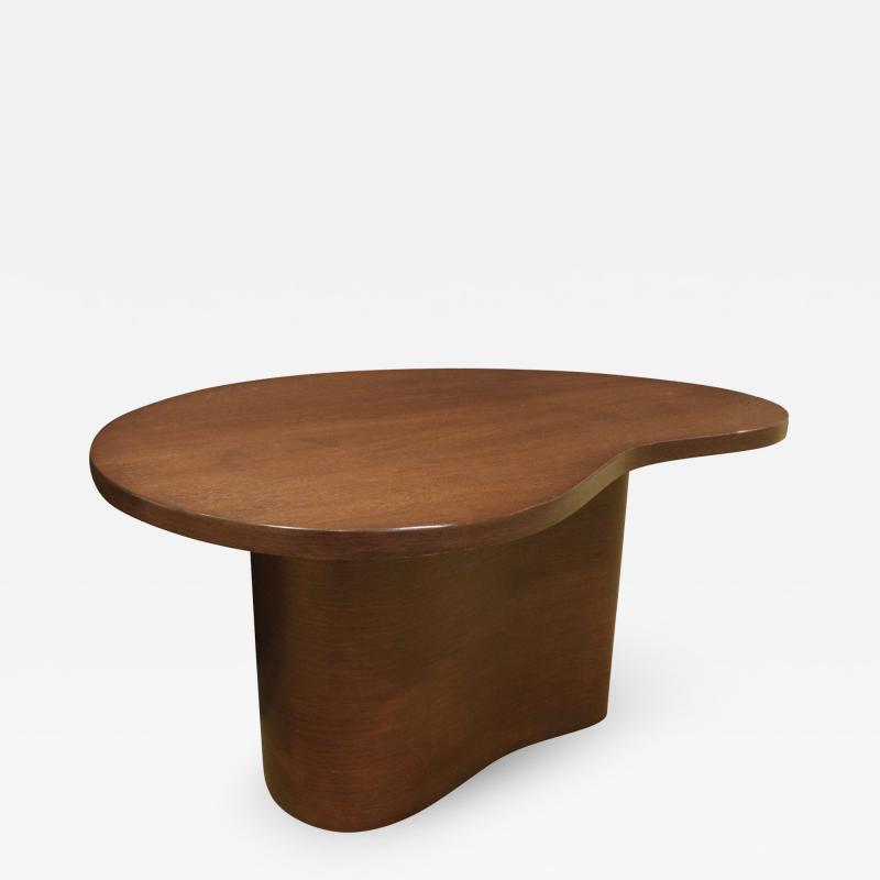 TH Robsjohn Gibbings Kidney Shaped Side Table in Walnut Attributed to T H Robsjohn Gibbings 1950s