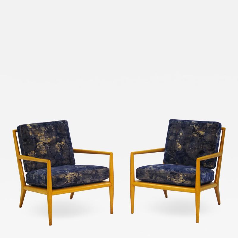 TH Robsjohn Gibbings Pair of Vintage Robsjohn Gibbings for Widdicomb Lounge Chairs